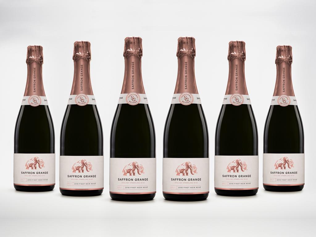 English sparkling Pinot Noir Rosé case
