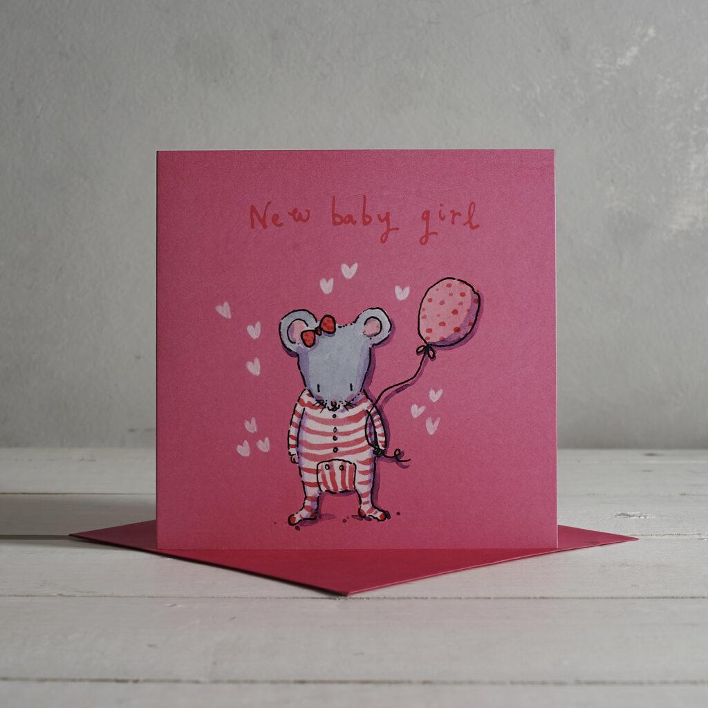 Baby Girl Greetings Card